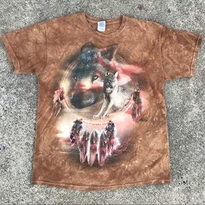 Other - The Mountain Wolf/Dream Catcher Tie Dye T-Shirt
